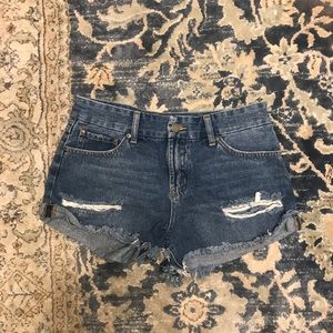 Women's Distressed Jean Shorts